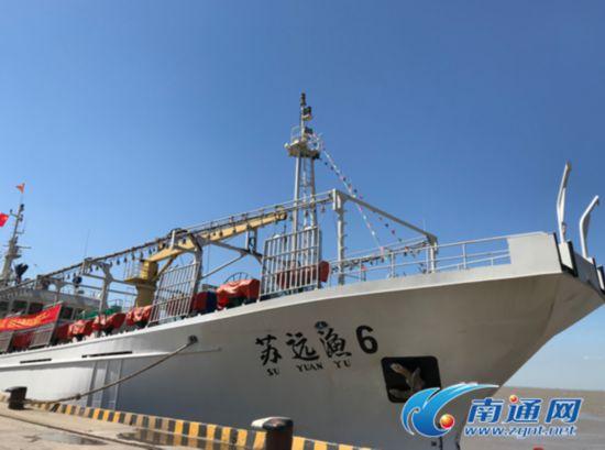 江苏最先进鱿钓船南通启航 长65米总吨位949吨