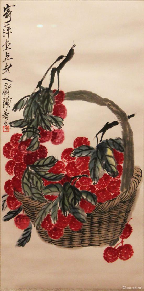 齐白石《大利图》 纸本设色 北京画院藏