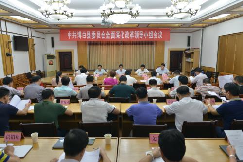 博白县委全面深化改革领导小组全体会议召开