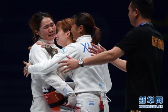 (体育)(12)击剑――世锦赛:中国队夺得女子重剑团体铜牌