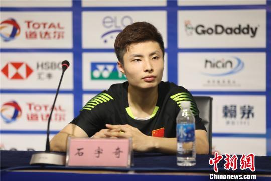 曾在四年前南京青奥会上表现出色的小将石宇奇如今已成国羽主力之一。 宁羽轩 摄
