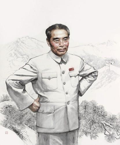 """""""纪念周恩来诞辰120周年中国画作品展""""全国巡展开幕"""