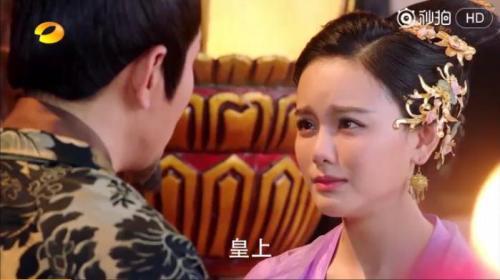 视频截图:南笙在《楚乔传》中饰演兰儿
