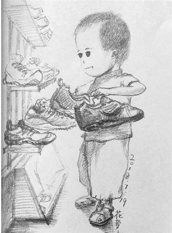 美术老师手绘暑假带娃心得 朋友圈吸粉一波--黑龙江