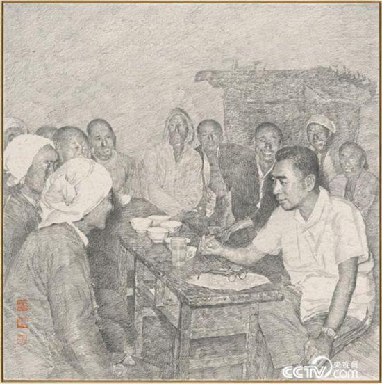 1961年年初,周恩来在河北邯郸地区调查研究。