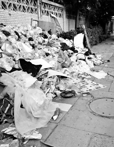 """臭气熏得居民不敢开窗 北京一小区半年内两次堆起""""垃圾山"""""""