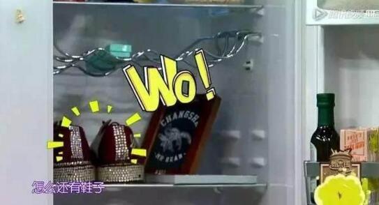 明星家的冰箱都有啥?戚薇放香水,范冰冰放面膜