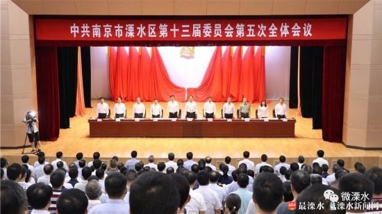 中共溧水区委十三届五次全会举行 谢元作总结