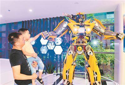 江苏东台工业机器人无人机等新业态不断涌现