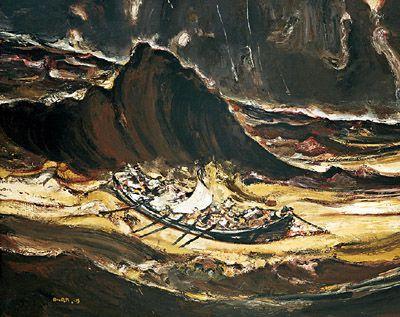 黄河(布面油画) 2003年 段正渠
