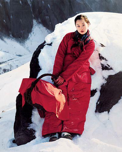 阳光和我同行(布面油画) 2006年 王沂东