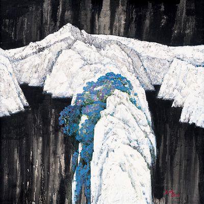 交响蓝白黑(布面油画) 2007年 闻立鹏