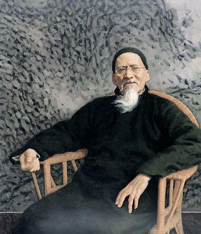 晚年黄宾虹(布面油画) 1996年 靳尚谊