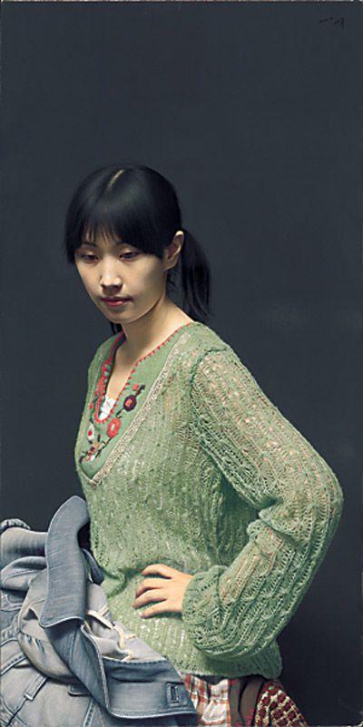 肖像之相――小姜(布面油画) 2011年 冷军