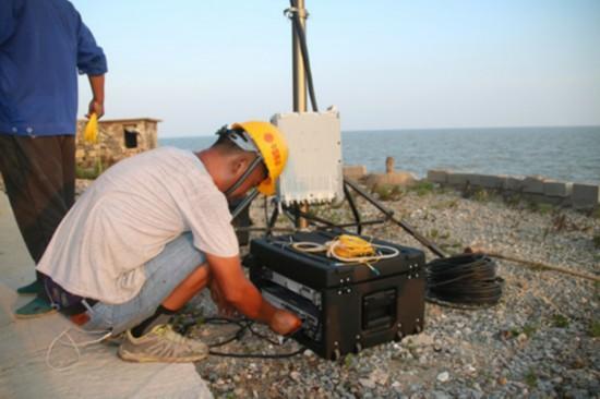 江苏灌云开山岛上建起移动4G基站 视频通话清晰不卡顿