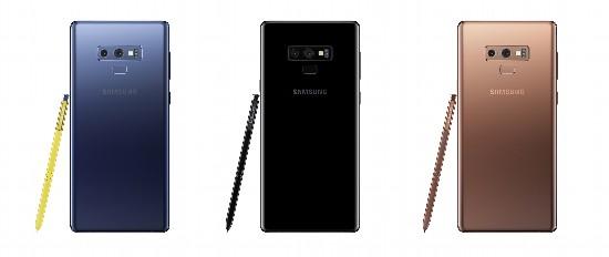 三星全球发布智能手机Galaxy Note9
