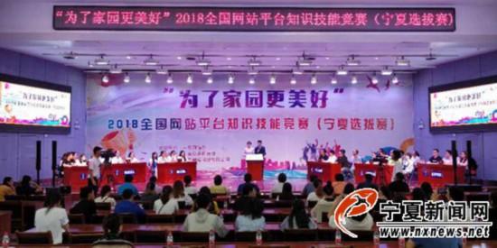 全国网站平台知识技能竞赛宁夏选拔赛成功举办