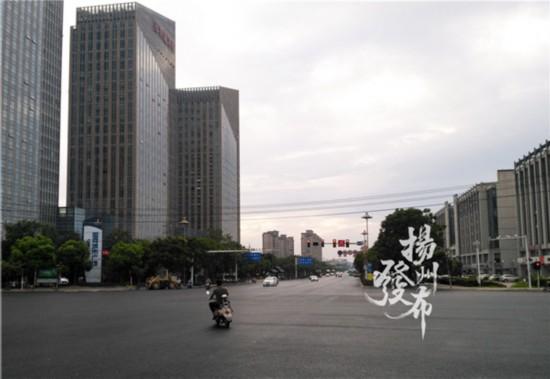 扬州文昌路东部区域开始恢复正常交通模式