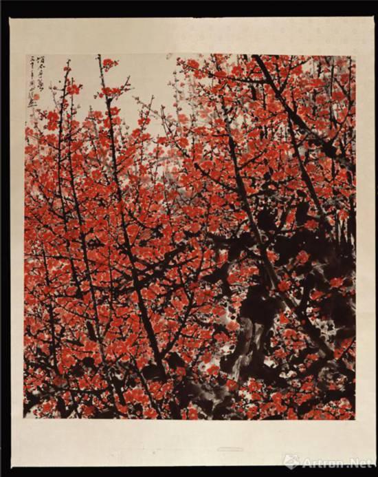 俏不争春 1973年 140 cm×120 cm 纸本设色 中国美术馆藏