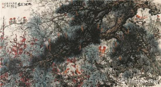 大地回春 1979年 95 . 7×176 . 9 cm 纸本设色 广州艺术博物院藏