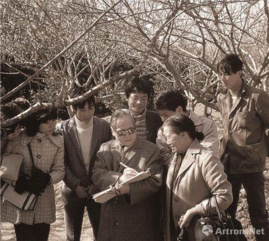 1984年在广州风景区对梅花速写