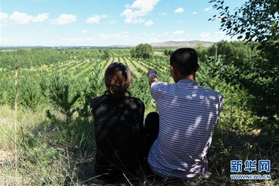 (图片故事)(4)治沙夫妻的幸福生活