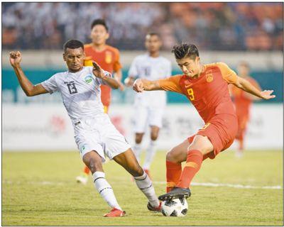 国足6-0胜东帝汶