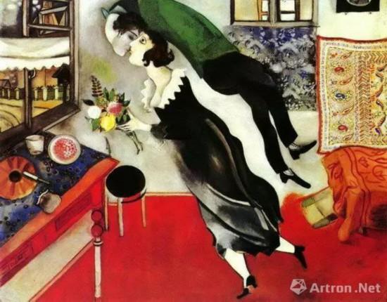 夏加尔《生日》油画