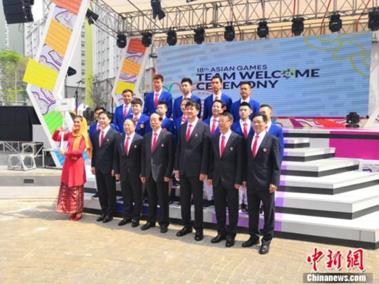 中国代表团举行升旗仪式 赵帅将担任开幕式旗手