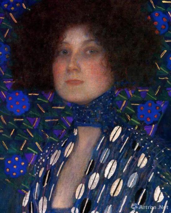 古斯塔夫・克里姆特《艾蜜莉・芙洛格肖像》(局部),1902年