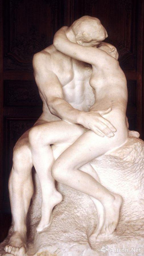 罗丹雕塑《吻》