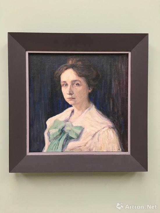 康定斯基 《加布里埃尔・穆特的肖像》 画布 油彩 1905