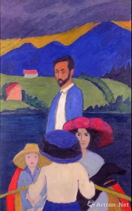 加布里埃勒・穆特画中的康定斯基