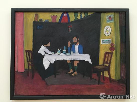 穆特 《康定斯基与尔玛・波西》 画布 油彩 1912(背景为康定斯基与穆特同居穆尔瑙时的家中客厅)