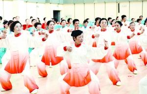 淮安举行健身气功站点比赛 300余人参加