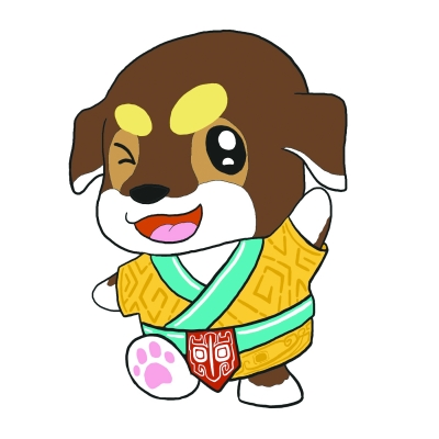 盘龙城遗址博物院公布吉祥物 这只萌犬的名字叫���