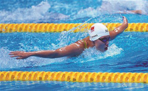 徐州游泳名将张雨霏亚运会登上最高领奖台