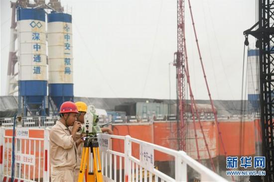 (经济)(1)深中通道建设工程进展顺利