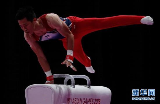 (亚运会)(3)体操――中国台北选手李智凯获男子鞍马金牌