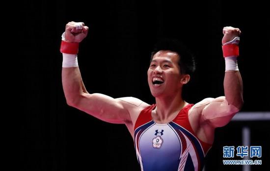 (亚运会)(4)体操――中国台北选手李智凯获男子鞍马金牌