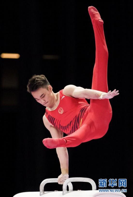(亚运会)(6)体操――中国台北选手李智凯获男子鞍马金牌