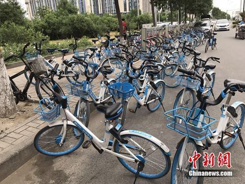 8月份,北京郊区某地突然出现大批的共享单车。中新网 吴涛