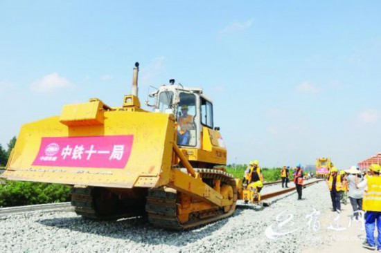 徐宿淮盐铁路(宿迁段)工程建设进展顺利