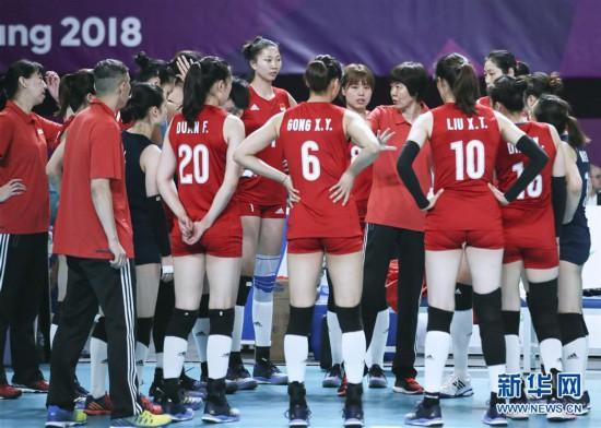 (亚运会)(14)排球――女子小组赛:中国胜哈萨克斯坦