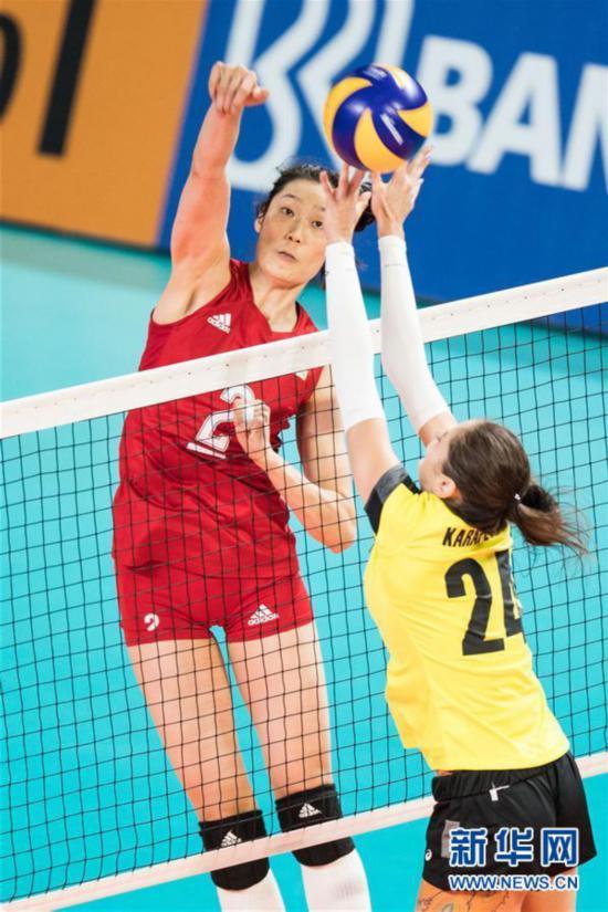 (亚运会)(6)排球――女子小组赛:中国胜哈萨克斯坦