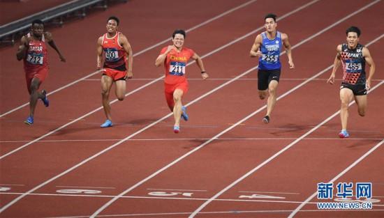 (亚运会)(19)田径――苏炳添夺得男子百米冠军