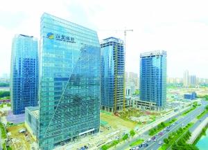 淮安市金融中心建筑群已粗具规模