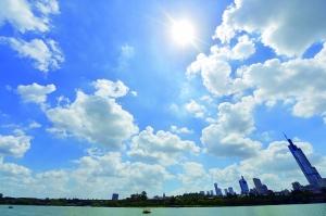 29日江苏省云系较多 31日最高温将回落至32℃