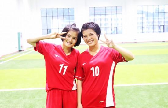 琼中女足两名队员入选U15国家女子足球队