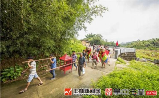 博白亚山和平村:七月七老爷出游,客家人的一场民俗盛宴